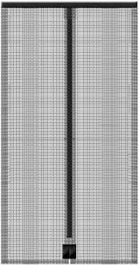 Schellenberg Insektenschutz Magnetvorhang 90 x 210 cm, anthrazit