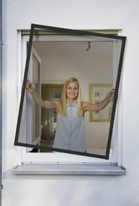 Schellenberg Insektenschutz Fenster PLUS 100 x 120 cm, anthrazit