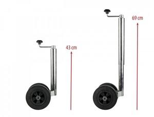 Calima Doppel-Stützrad 48 mm für Wohnwagen und große Anhänger