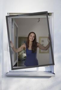 Schellenberg Insektenschutz Fenster TELESCOPE 80 x 85 cm bis 140 x 150 cm, anthrazit