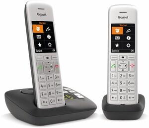 CE575A Duo Schnurlostelefon mit Anrufbeantworter silber/schwarz