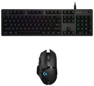 G512 Linear (DE) Gaming Tastatur carbon + G502 Lightspeed Bundle für Warcarft III
