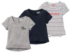 PEPPERTS® T-Shirts Mädchen, 3 Stück, Tragekomfort durch weiche Viskose, Passform