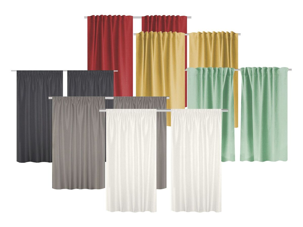 Bild 1 von Home Wohnideen Thermovorhang »Uni«, 2er-Pack, blickdicht, mit Thermostoffen