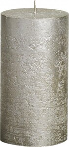 Bolsius Rustik Stumpenkerze Metallic ,  champagner, Höhe: 13 cm, Ø 6,8 cm