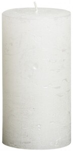 Bolsius Rustik Stumpenkerze Metallic ,  weiß, Höhe: 13 cm, Ø 6,8 cm