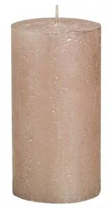 Bolsius Rustik Stumpenkerze Metallic ,  pastell-pink, Höhe: 13 cm, Ø 6,8 cm