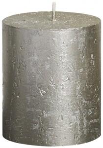 Bolsius Rustik Stumpenkerze Metallic ,  champagner, Höhe: 8 cm, Ø 6,8 cm
