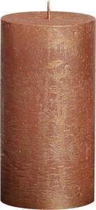 Bolsius Rustik Stumpenkerze Metallic ,  kupfer, Höhe: 13 cm , Ø 6,8 cm