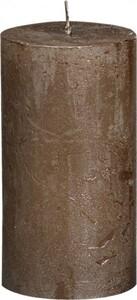 Bolsius Rustik Stumpenkerze Metallic ,  braunes kupfer, Höhe 13 cm, Ø 6,8 cm