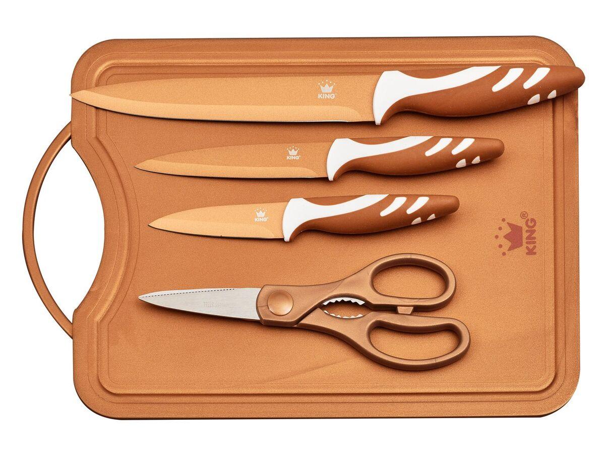 Bild 2 von KING Messerset mit Schneidebrett 5-teilig
