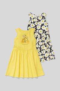 Kleid - Bio-Baumwolle - 2er Pack - Glanz-Effekt