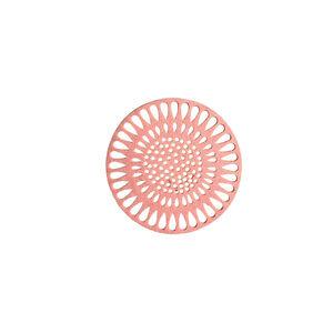 Glasuntersetzer Flower, D:10cm, 4er-Set, rosa