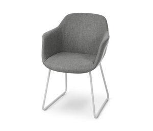 Stuhl gepolstert, mit Metallgestell