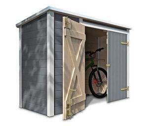 WEKA-Fahrrad-und-Multi-Box, grau-weiß