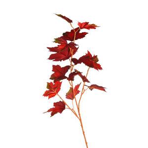 Zweig Ahorn, L:70cm, rot