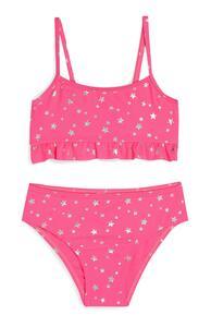 Pinkfarbener Bikini mit Sternen-Print (kleine Mädchen)