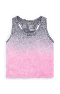 Pink-graues, nahtloses Trainingstanktop (Teeny Girls)