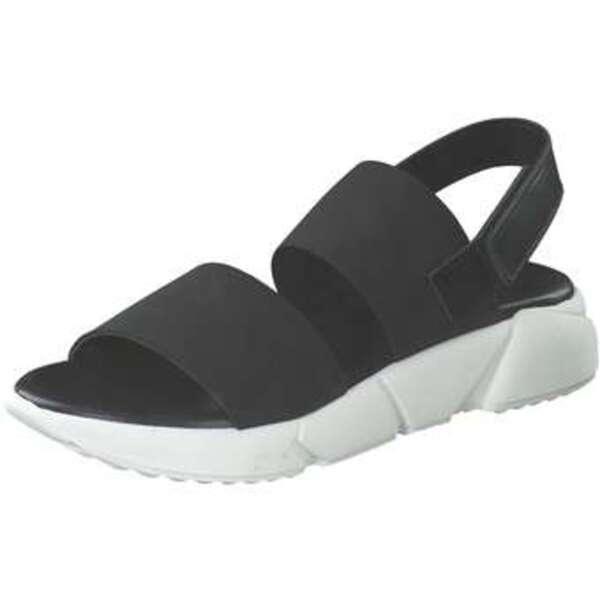 Artigiano Italiano Plateau Sandale Damen schwarz