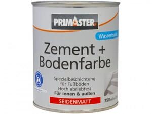 Primaster Zementfarbe und Bodenfarbe 750 ml, kupferbraun, seidenmatt