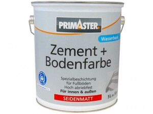 Primaster Zementfarbe und Bodenfarbe 5 l, kupferbraun, seidenmatt