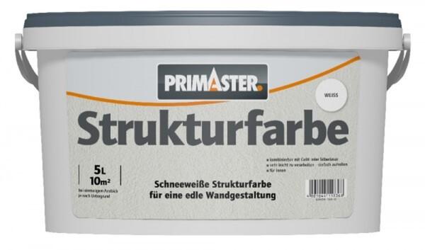 Primaster Strukturfarbe 5 l, weiß