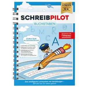 Schreibpilot Schreiblernhefteft Buchstaben, DIN-A4, blau, mit Bleistift und Radiergummi