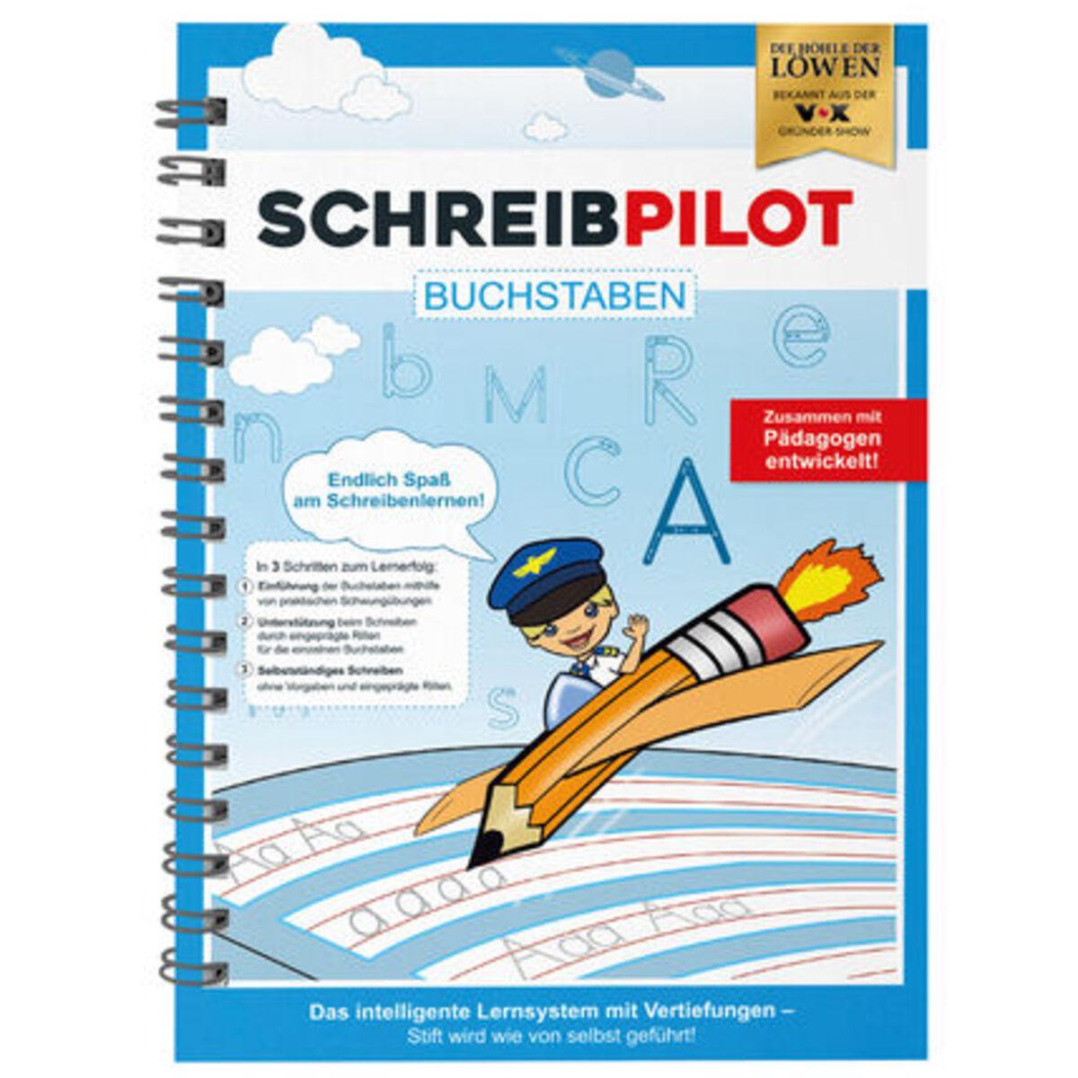 Bild 1 von Schreibpilot Schreiblernhefteft Buchstaben, DIN-A4, blau, mit Bleistift und Radiergummi