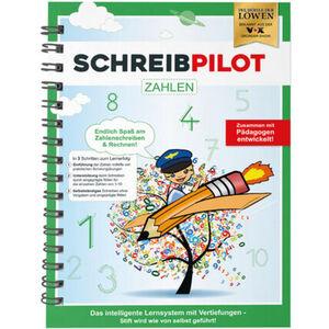 Schreibpilot Schreiblernhefteft Zahlen, DIN-A4, grün, mit Bleistift und Radiergummi
