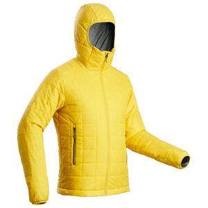 Wattierte Jacke Trekkingjacke Trek 100 Kapuze Herren gelb