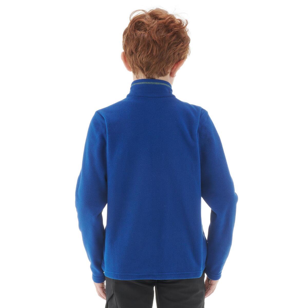 Bild 4 von Fleecepullover Wandern MH100 Kinder Jungen 123–172cm blau