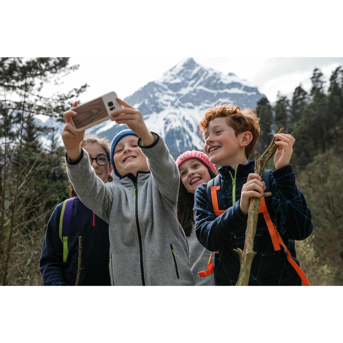 Bild 5 von Fleecepullover Wandern MH100 Kinder Jungen 123–172cm blau