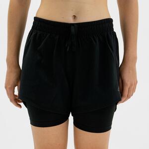 Shorts Fitness Cardio Damen schwarz