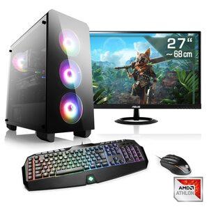 "CSL Gaming PC Set Athlon X4 870K, GTX 1050 Ti, 16GB RAM, 27"" TFT »Sprint T2161 Windows 10 Home«"