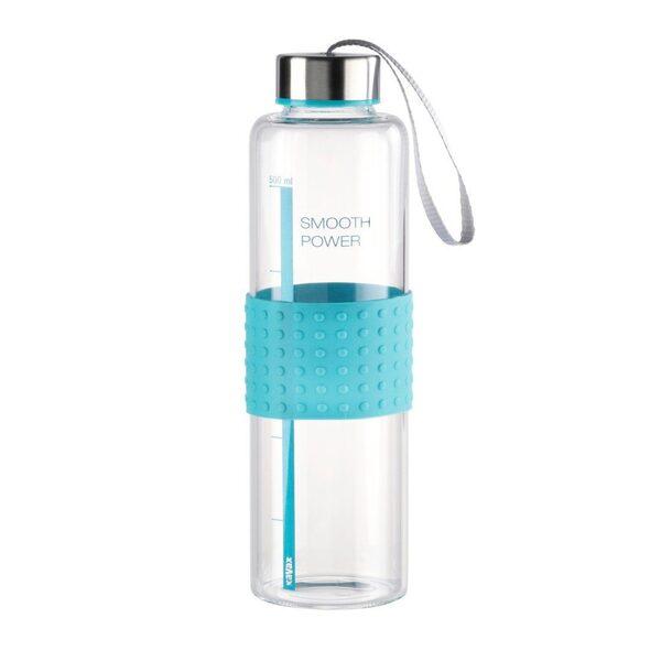 Xavax Xavax Trinkflasche aus Glas, Smooth Power, 0,5 Liter »Glasflasche mit Trageschlaufe«