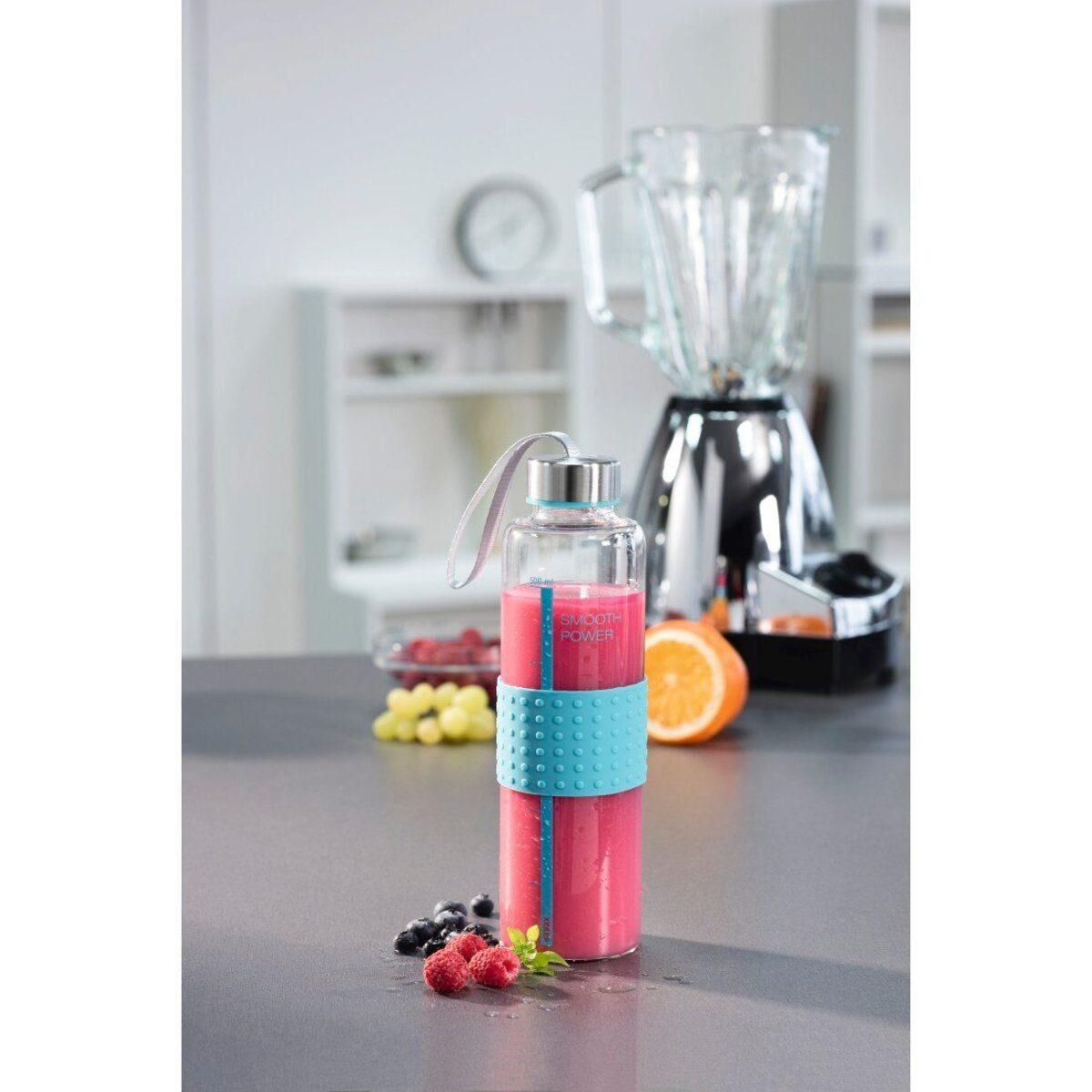 Bild 2 von Xavax Xavax Trinkflasche aus Glas, Smooth Power, 0,5 Liter »Glasflasche mit Trageschlaufe«