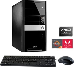 Hyrican Home-Office PC 6461 Gaming-PC (AMD Ryzen 3, Radeon RX Vega 8, 8 GB RAM, 1000 GB HDD, 120 GB SSD, Luftkühlung, inkl. Office-Anwendersoftware Microsoft 365 Single im Wert von 69 Euro)