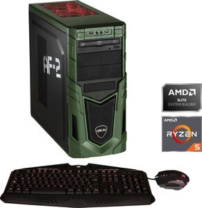 Hyrican Military Gaming 6398 Gaming-PC (AMD Ryzen 5, RTX 2060 SUPER, 16 GB RAM, 1000 GB HDD, 480 GB SSD, Luftkühlung, inkl. Office-Anwendersoftware Microsoft 365 Single im Wert von 69 Euro)