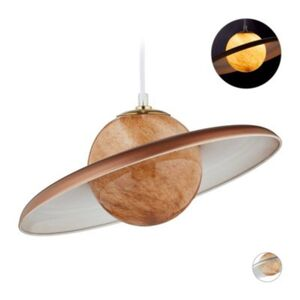 1-flammige Hängelampe Saturn kupfer