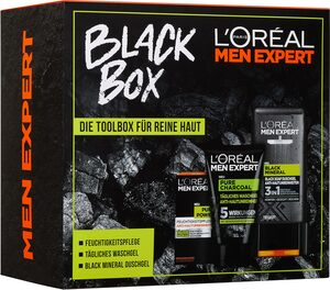 L'ORÉAL PARIS MEN EXPERT Pflege-Geschenkbox »Black Box« Set, 3-tlg., Die Toolbox für reine Haut