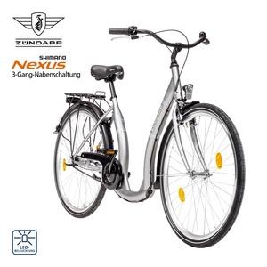 Citybike Red 3.0 26er oder 28er - Shimano Drehgriffschalter - Alu-V-Bremse vorne  - Rücktrittbremse - Alu-Hochbettfelgen - Rahmenhöhe:  42 cm (26er),  46 cm (28er), Preis für vormontierte Räder