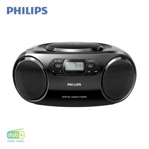 DAB+-Radio AZB500/12 • CD-Player • UKW-Tuner mit RDS • Aux-Anschluss • Netz- oder Batteriebetrieb  *Logo: DAB_Plus_2017 *UVP: 79,99*