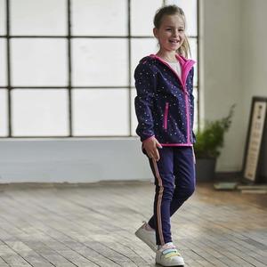Kinder-Mädchen-Treggings mit sportlichem Seitenstreifen