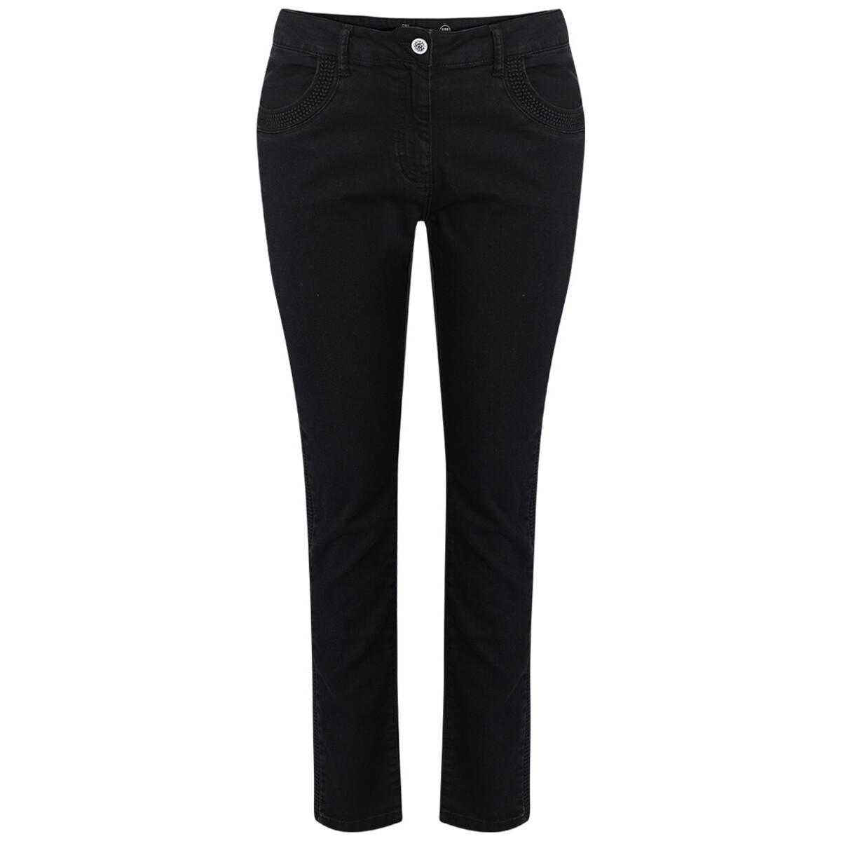 Bild 1 von Damen Slim-Jeans mit Galonstreifen