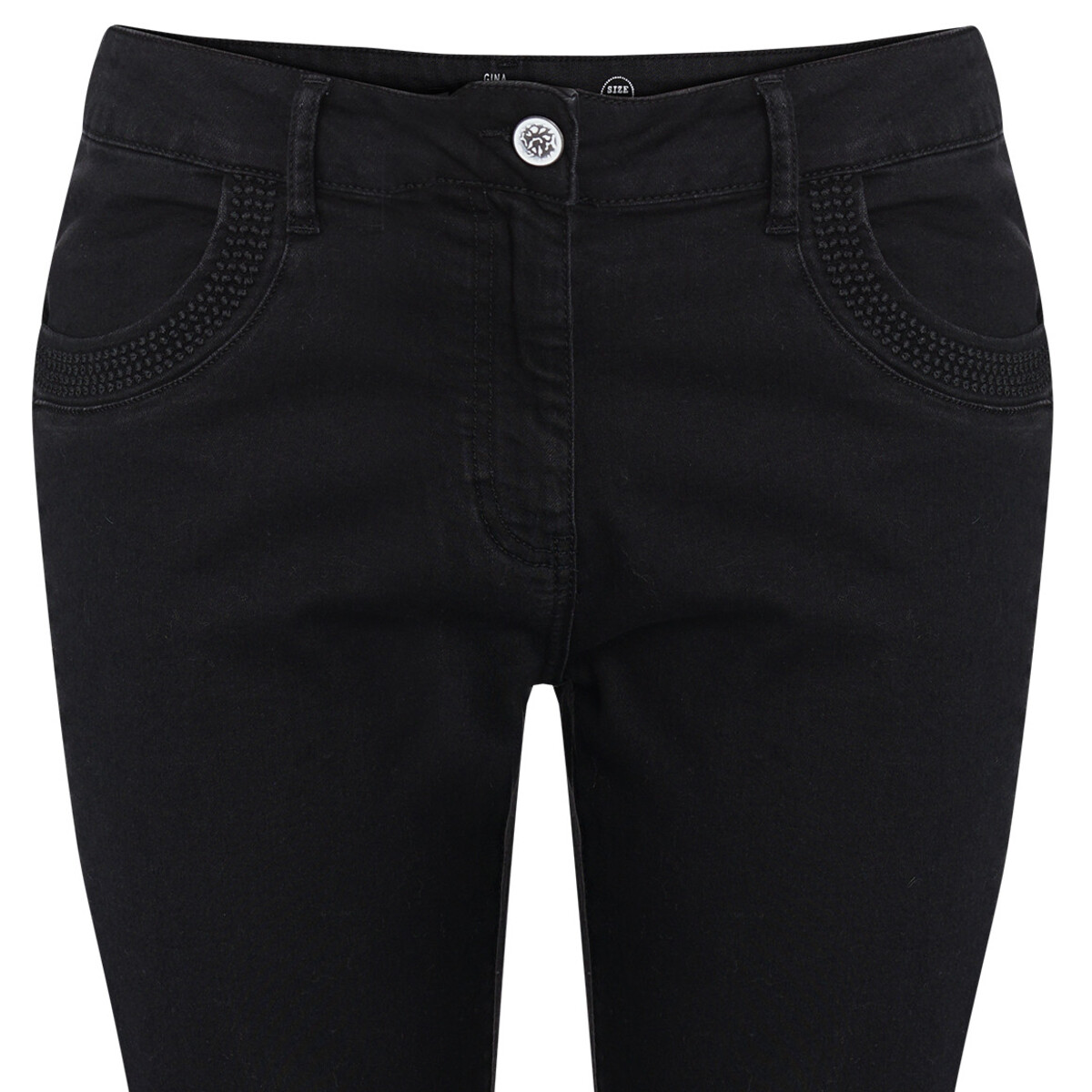 Bild 2 von Damen Slim-Jeans mit Galonstreifen