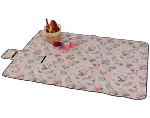 Picknickdecke Blumen rosa 140 x 200 cm