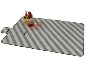 Picknickdecke Streifen grau 140 x 200 cm