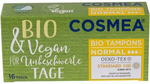 Cosmea® BIO Tampons, VEGAN, Normal, 16 Stück