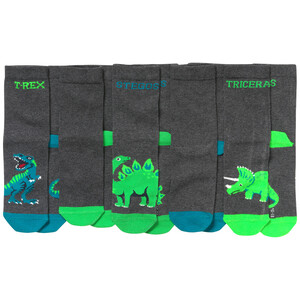 5 Paar Jungen Socken mit Dino-Motiven
