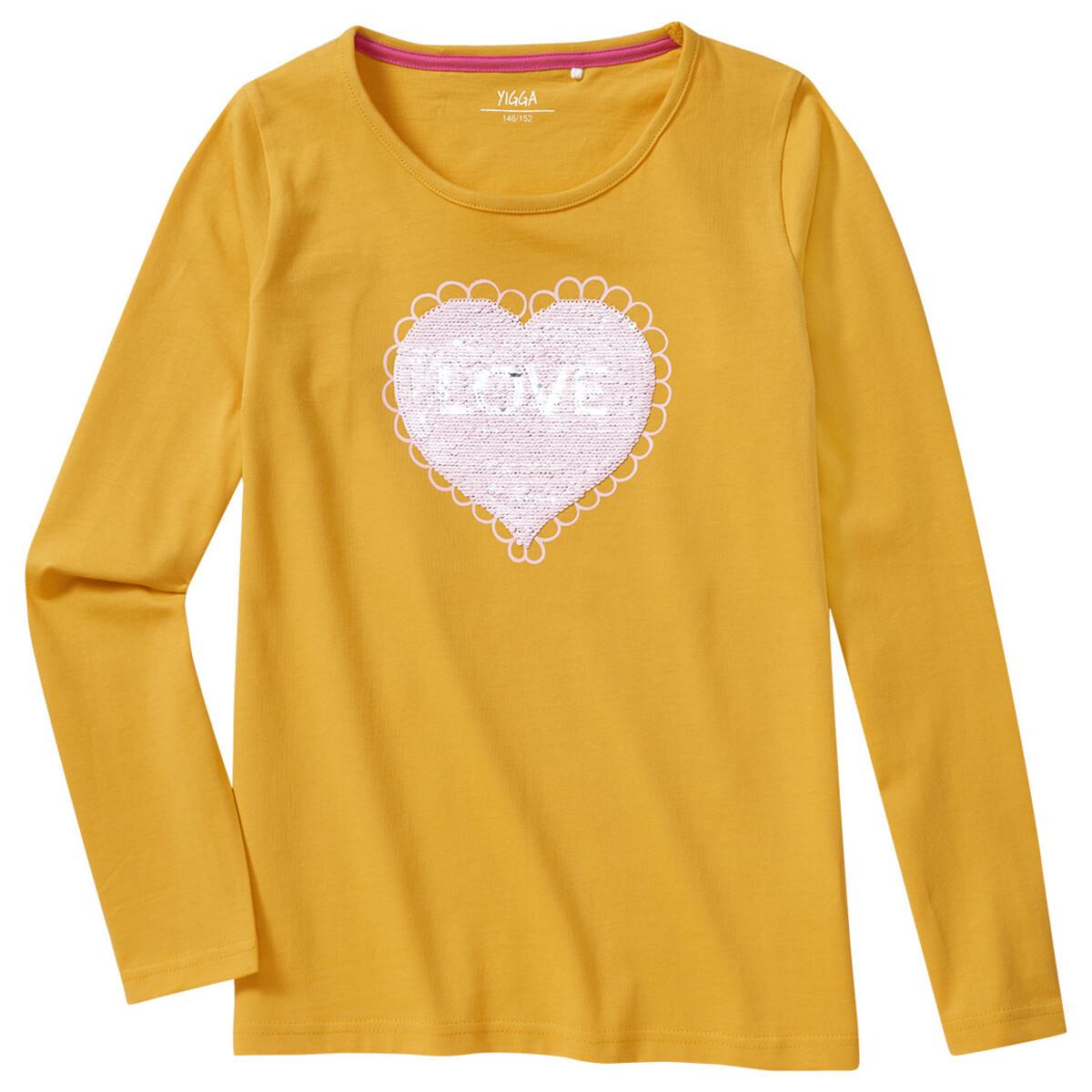 Bild 1 von Mädchen Langarmshirt mit Wendepailletten